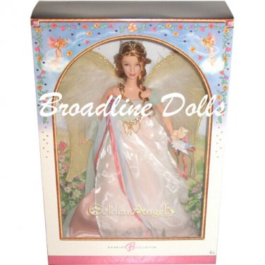 2006 Golden Angel Barbie collector pink label doll NRFB