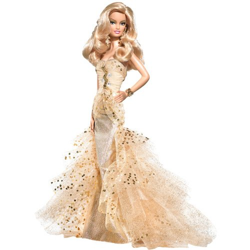 50th Anniversary Barbie in Gold Gown Glamour doll NRFB