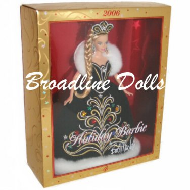 2006 Holiday Barbie in Black Gown designed by Bob Mackie NRFB