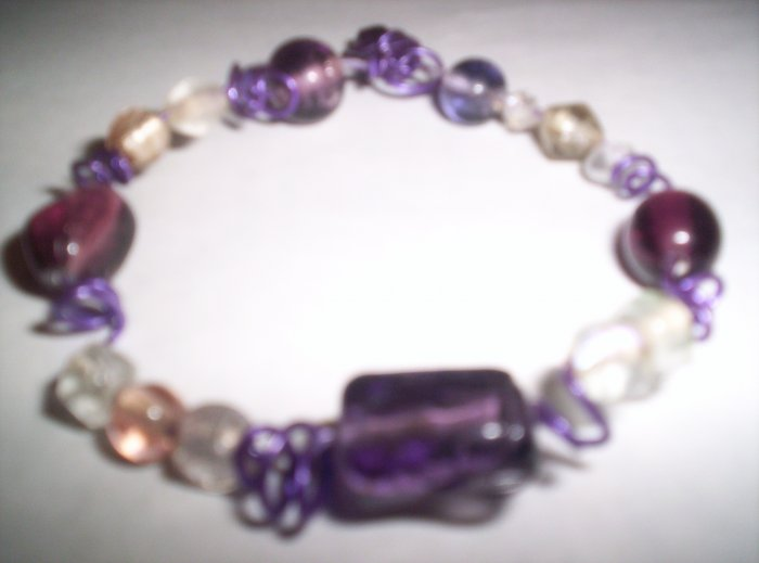 Purple wire and beads
