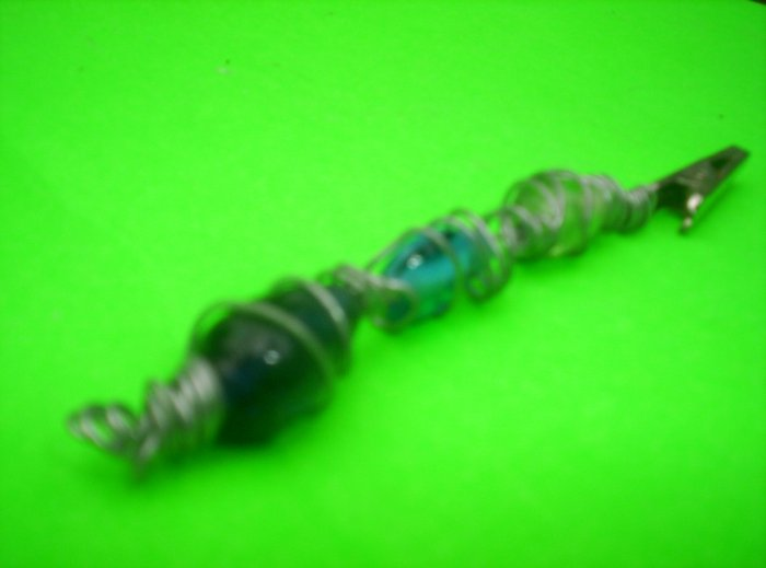 wire wrapped glass bead clip