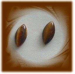 GENUINE TIGERS EYE Marquise lot (2) 5.20CTW 15X7mm