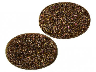 Weeping Willow Drusy Druzy Quartz 14x10mm Oval Tablet Set of 2