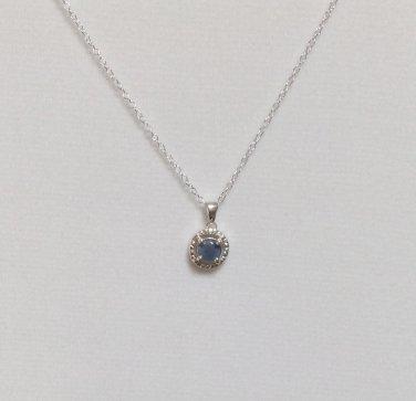 Australian Boulder Opal Triplet  Pendant Necklace With Chain  .925 SS  0.43 ctw.