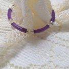 Sterling Silver 7 inch Polished Lavender Jade Bracelet New