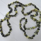 Yellow Turquoise Color Jasper-Serpentine Chip Bead Strand 34 Inch Medium