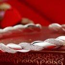 Etched and Smooth Design Adjustable Sterling Silver Plated Bangle Bracelet New