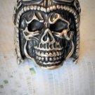 Stainless Steel Men's Skull Aviator Gothic Biker Ring Sz 11 New