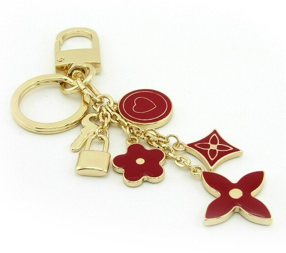 Keychain + Fashion Bag Charms --  Trendy Red