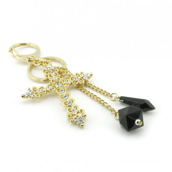 "Keychain + Fashion Bag ""Cross"" Charms -- Baroque Style"