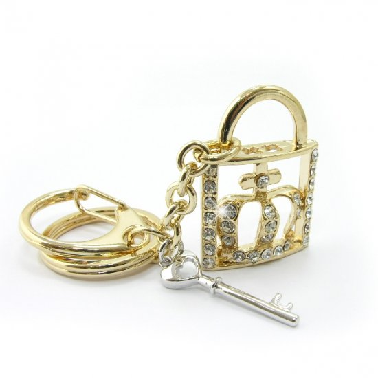 "Keychain -- Fashion Bag ""Lock"" Charms"