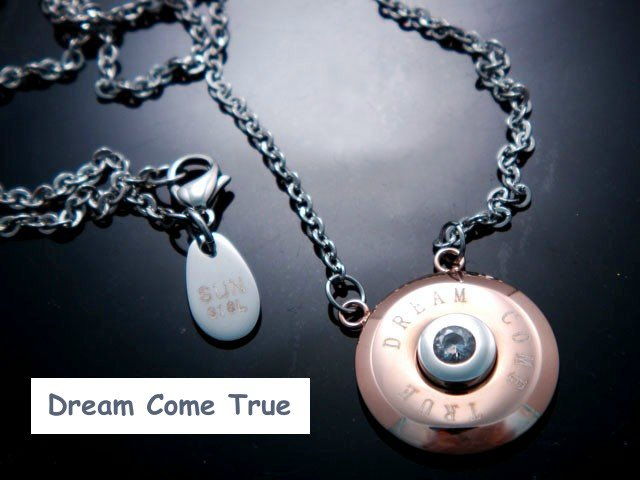 Dream Come True Stainless Steel Zircon Necklace