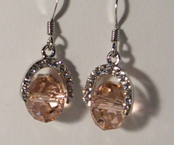 Sparkly Earrings With Swarovski Crystal