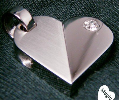 Magic Heart Stainless Steel Necklace with Swarovski Crystal