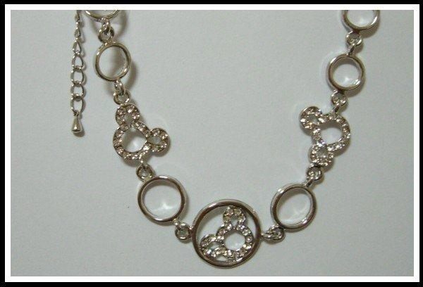 Mickey Pattern Bracelet With Swarovski Crystal
