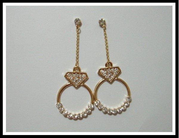 E48 Dazzling Circle Earrings With Rhinestone