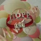 """HOPE"" Rhinestone letters Bracelets"