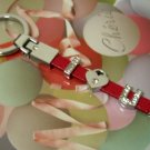 """I Love You"" Leather Keyring"