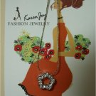 """N58 Rhinestones """"Flower""""  Necklace"""