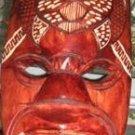 Reddish-brown mask - turtle painting