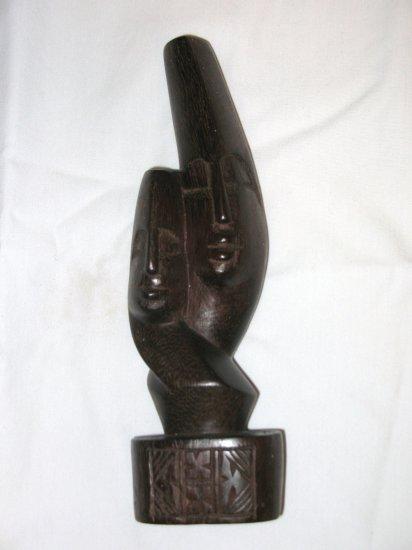 "Lovers statue, dark brown - 8"""