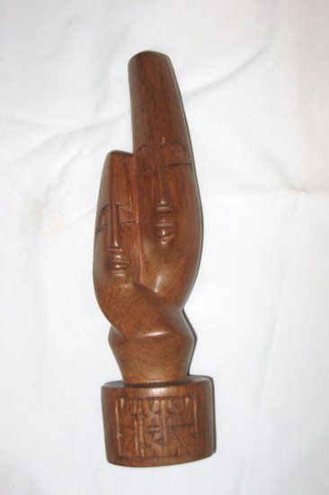 Lovers statue, brown - 8.5""