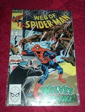 Web of Spider-Man Wolves Bite Back Comic Book #51