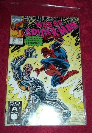 Web of Spider-Man Death is a Cyborg Called Silvermane! Comic Book