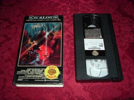 VHS -  Excalibur Rated R