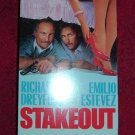 VHS - Stakeout Rated R starring Richard Dreyfuss and Emilio Estevez