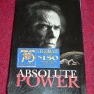 VHS - Absolute Power Rated R starring Clint Eastwood and Gene Hackman