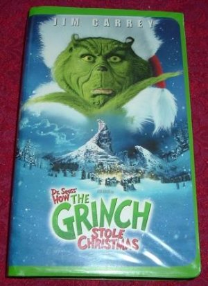 vhs how the grinch stole christmas rated pg starring jim carrey - How The Grinch Stole Christmas Jim Carrey