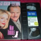 VHS - Man Trouble Rated PG-13 starring Jack Nicholson and Ellen Barkin