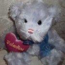 Blue Plush Valentine Teddy Bear