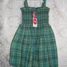 Toddler Girls Green Plaid Seesucker Dress Size 3T