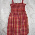Toddler Girls Red Plaid Seesucker Dress Size 3T