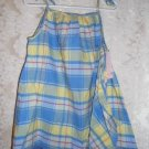 Toddler Girls Blue and Yellow Plaid Dress Size 3T