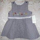 Toddler Girls Navy Plaid Dress Size 2T