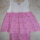 Toddler Girls Pink and White Short Set Size 4T