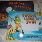 Paperback - Two Froggy Books - Froggy Learns To Swim and Froggys Sleepover