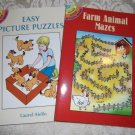 Paperback – Two Childrens Activity Books – Farm Animal Mazes and Easy Picture Puzzles