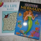 Paperback - Two Book Set Seal Life Mazes and Glitter Mermaid Sticker Paper Doll