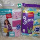 Girls Low Rise and Hipster Briefs from Hanes Size 10 - 2 Pack