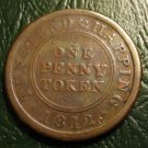 1812 THE CORPORATION HOUSE - ONE PENNY TOKEN TUNSTEAD & HAPPING (NORFOLK)