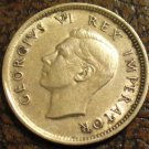 1943 SOUTH AFRICA 6 Pence KM# 27 Silver
