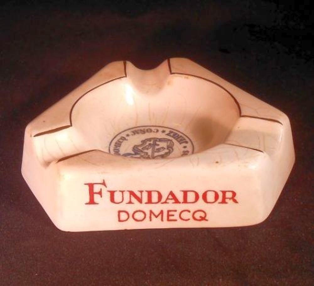 Ashtray Advertising Vintage Fundador Jerez Brandy