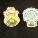 Unocal 76 L.A. Dodgers World Championships Pins