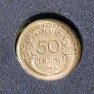 1944 French West Africa 50 Centimes