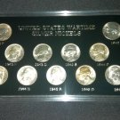 Jefferson War Nickel Set BU Unc Capital Holder