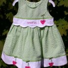 """Youngland""  Infant Summer Dress Size 18mos. Green"